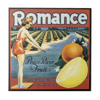 Vintage Bathing Beauty fruit crate label art tile