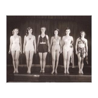 Vintage Bathing Suits Canvas Print - 1780019.jpg