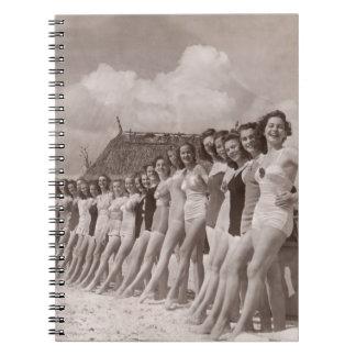 Vintage Bathing Suits Notepad - 1780018.jpg Spiral Notebooks