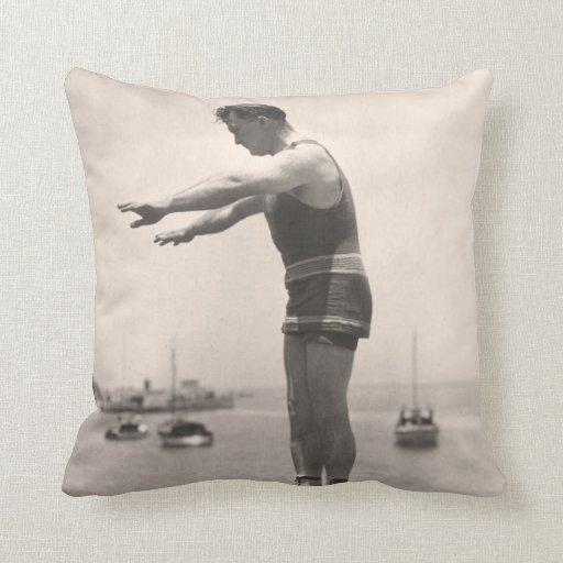 Vintage Bathing Suits Pillow - 1780086