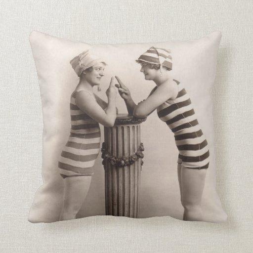 Vintage Bathing Suits Pillow - 1780186