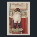 """Vintage Bathroom Wall Art<br><div class=""""desc"""">Gorgeous vintage advertisement for Pyle&#39;s Pearline Soap.  Features a little Victorian girl standing on a chair to wash her hands.  A very sweet addition to your bathroom decor.</div>"""