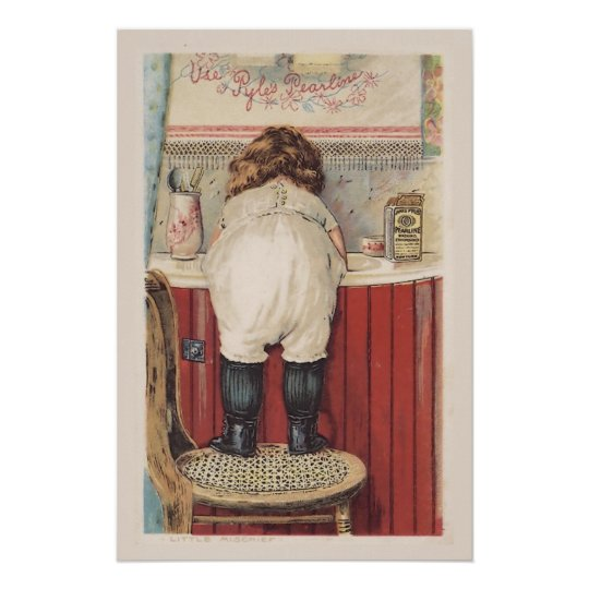 Vintage Bathroom Wall Art Zazzle Com