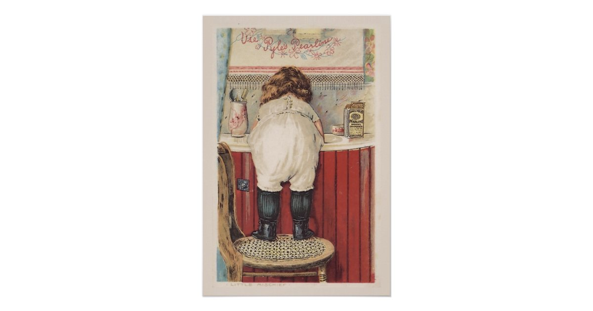 Vintage Bathroom Wall Art | Zazzle