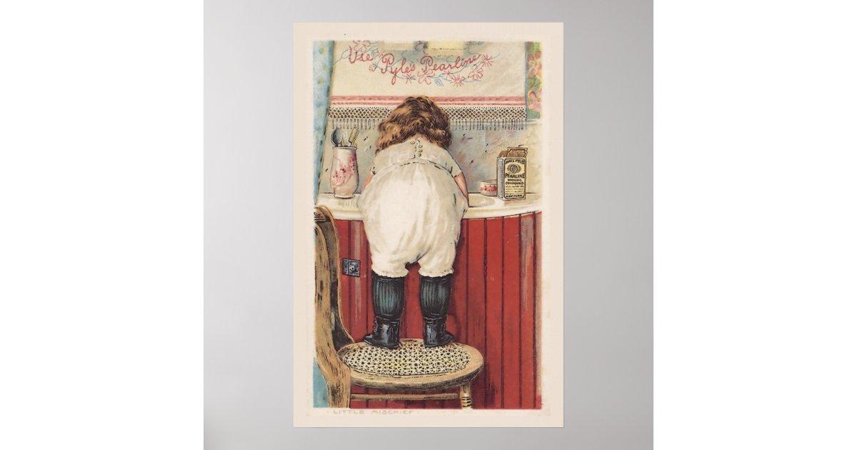 Vintage Wall Decor For Bathroom : Vintage bathroom wall art zazzle