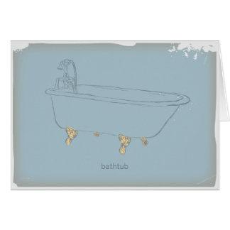 Vintage Bathtub Card