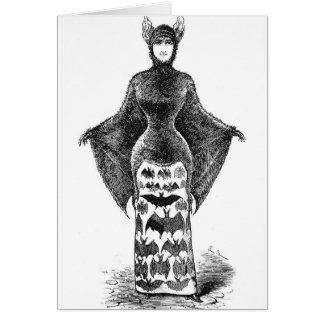 Vintage Batlady Image Card