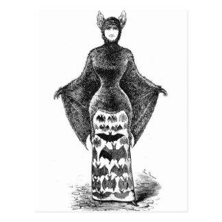 Vintage Batlady Image Postcard