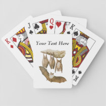 Vintage Bats Illustration, Animal Drawing Playing Cards