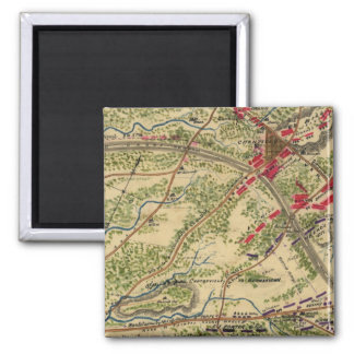 Vintage Battle of Chantilly Map (1862) 2 Inch Square Magnet