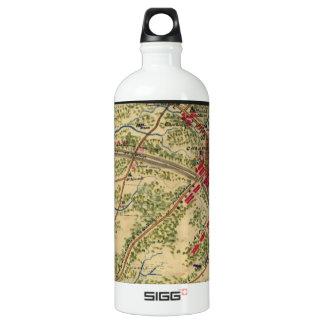 Vintage Battle of Chantilly Map (1862) Aluminum Water Bottle