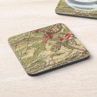 Vintage Battle of Chantilly Map (1862) Beverage Coaster