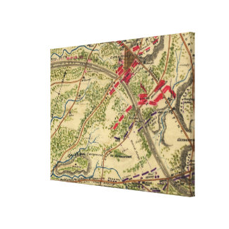 Vintage Battle of Chantilly Map (1862) Canvas Print
