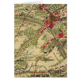 Vintage Battle of Chantilly Map (1862) Card