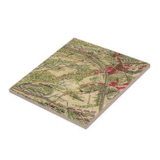 Vintage Battle of Chantilly Map (1862) Ceramic Tile