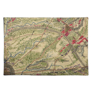 Vintage Battle of Chantilly Map (1862) Cloth Placemat