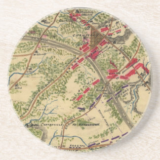 Vintage Battle of Chantilly Map (1862) Coaster