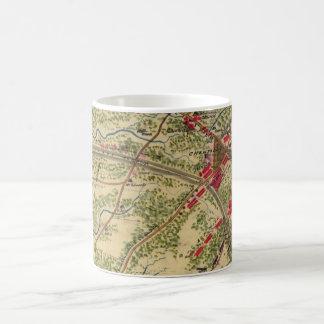 Vintage Battle of Chantilly Map (1862) Coffee Mug