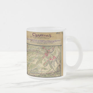 Vintage Battle of Chantilly Map (1862) Frosted Glass Coffee Mug