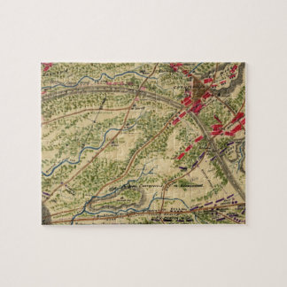 Vintage Battle of Chantilly Map (1862) Jigsaw Puzzle