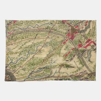 Vintage Battle of Chantilly Map (1862) Kitchen Towel
