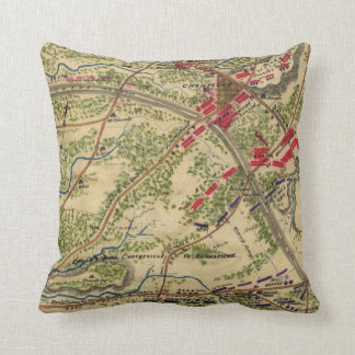 Vintage Battle of Chantilly Map (1862) Pillow