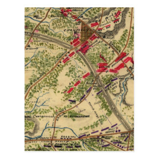 Vintage Battle of Chantilly Map (1862) Postcard