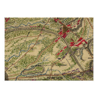 Vintage Battle of Chantilly Map (1862) Poster