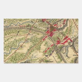 Vintage Battle of Chantilly Map (1862) Rectangular Sticker