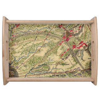 Vintage Battle of Chantilly Map (1862) Serving Tray