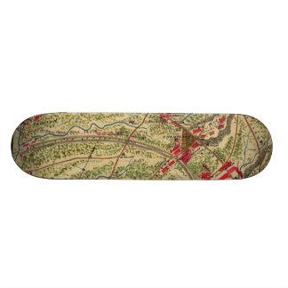 Vintage Battle of Chantilly Map 1862 Skate Deck