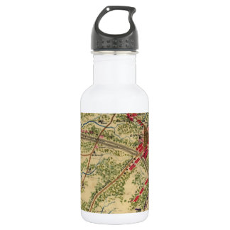 Vintage Battle of Chantilly Map (1862) Stainless Steel Water Bottle