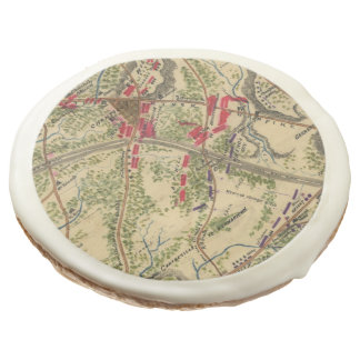 Vintage Battle of Chantilly Map (1862) Sugar Cookie