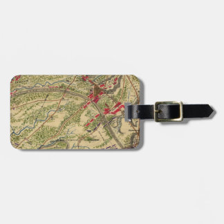 Vintage Battle of Chantilly Map (1862) Tag For Luggage
