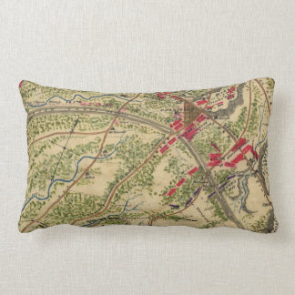 Vintage Battle of Chantilly Map (1862) Throw Pillow