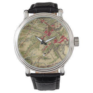 Vintage Battle of Chantilly Map (1862) Wristwatch