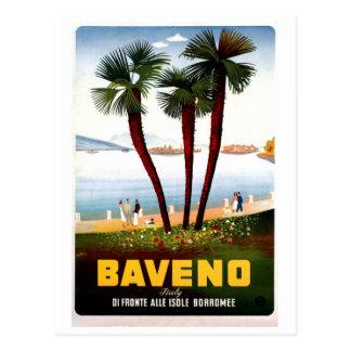 Vintage Baveno Italian travel advertising Postcard