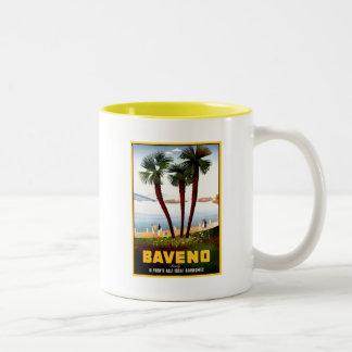 Vintage Baveno Italian travel advertising Two-Tone Coffee Mug