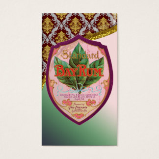 Vintage Bay Rum Poster Business Card