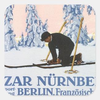 Vintage Bazar Nurnberg Square Sticker
