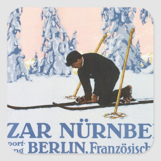 Vintage Bazar Nurnberg Square Stickers