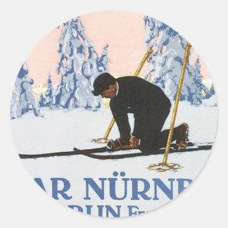 Vintage Bazar Nurnberg Round Sticker