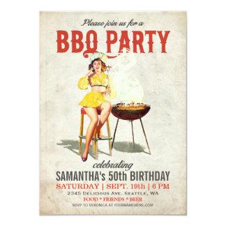Vintage BBQ Birthday Invitation 2