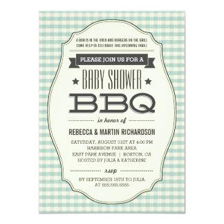 "Vintage BBQ Boy Baby Shower Invitations 4.5"" X 6.25"" Invitation Card"