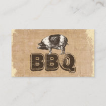 Vintage BBQ Pork Business Card