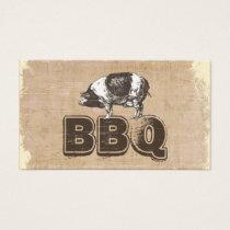 Vintage BBQ Pork Business Card
