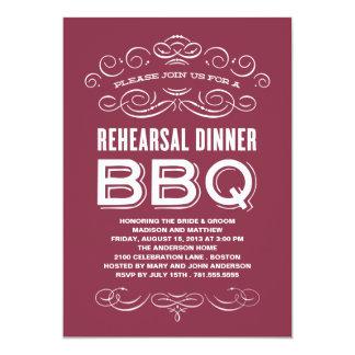 VINTAGE BBQ | REHEARSAL DINNER BBQ CARD