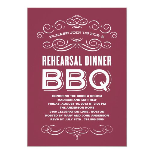 Invitation To Rehearsal Dinner for adorable invitation design