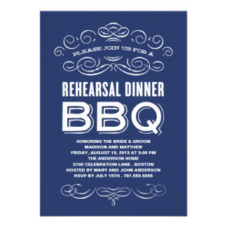 VINTAGE BBQ REHEARSAL DINNER BBQ CUSTOM INVITE