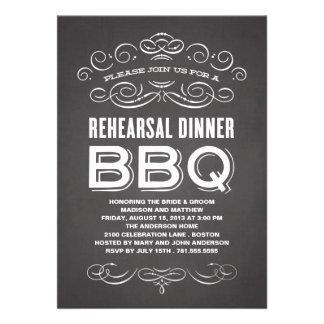 VINTAGE BBQ REHEARSAL DINNER BBQ PERSONALIZED INVITATION